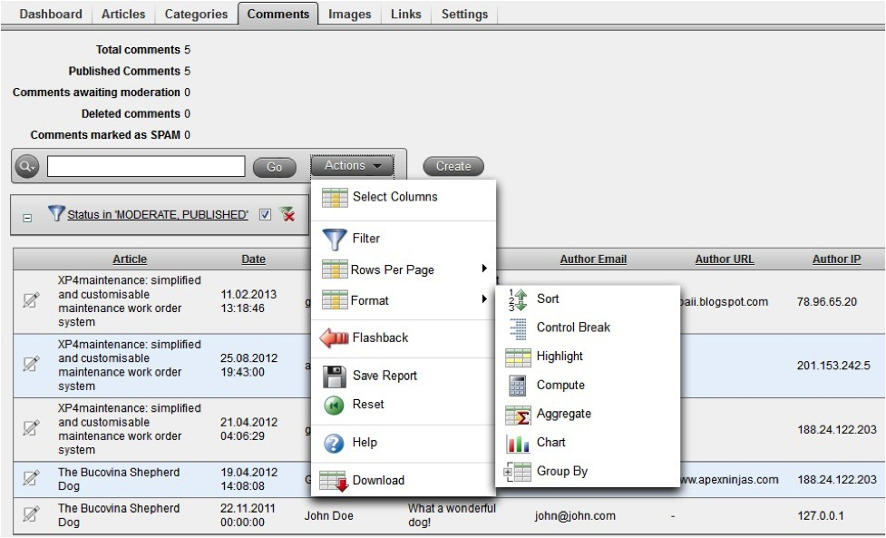 TSM - Rapid Application Development for the Web with Oracle APEX